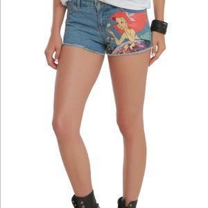 Hot Topic Ariel Little Mermaid Jean Shorts Size 7